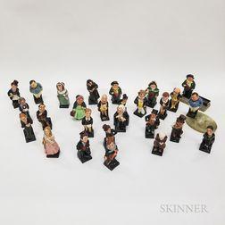 Twenty-seven Small Royal Doulton Dickens Figures