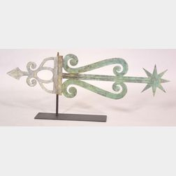 Sheet Copper and Zinc Banner Weather Vane