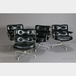 Four Charles and Ray Eames ES105 Swivel Armchairs