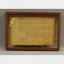 Taylor, John (1784-1854) Signed Document.