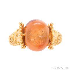 High-karat Gold and Carnelian Seal Ring