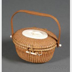 Small Nantucket Friendship Basket Purse