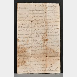 Fitch, John IV (1756-1807) Revolutionary War Letters and Family Archive: