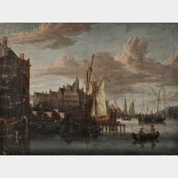Attributed to Jacobus Storck (Dutch, b. circa 1641-d. circa 1688)      View of Amsterdam
