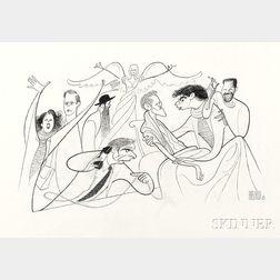 Al Hirschfeld (American, 1903-2003)      Angels in America