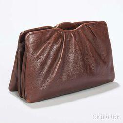 Judith Leiber Brown Leather Handbag