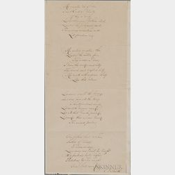 Smith, Samuel Francis (1808-1895) My Country 'Tis of Thee  , Autograph Transcription Signed.