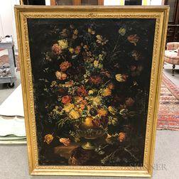 Dutch/Flemish School, 17th Century Style      Ornate Floral Still Life