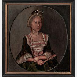 Winthrop Chandler (Connecticut, 1747-1790)      Portrait of Mary McClellan, 1776