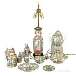 Twelve Rose Medallion Porcelain Tableware Items