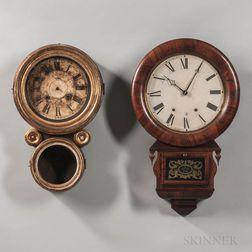 Two American Wall Clocks