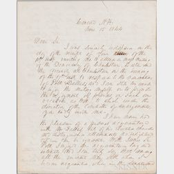 Pierce, Franklin (1804-1869) Autograph Letter Signed, Concord, New Hampshire, 15 June 1844.