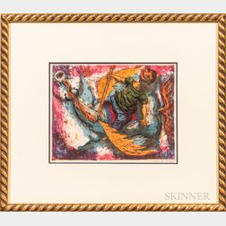 David Berger Framed Abstract Lithograph