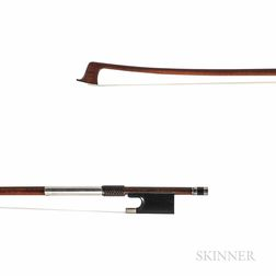 French Nickel-mounted Violin Bow, Charles Louis Bazin, c. 1930