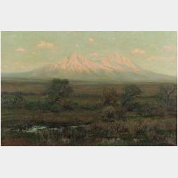 Charles Partridge Adams (American, 1858-1942)  Desert Mountains, Sunset