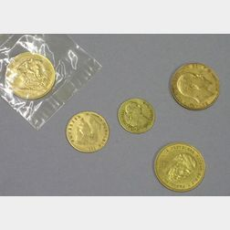 Six Gold World Coins