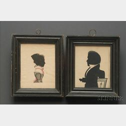 Pair of Silhouette Portraits of Amasa and Eliza Perrin