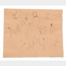 Édouard Vuillard (French, 1868-1940)    Etude de Femmes