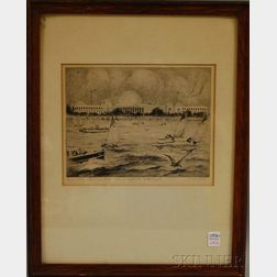 W. Harry Smith (American, 1875-1951)      M.I.T. Across Charles River Basin, Boston