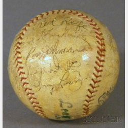 1936 New York Yankees Autographed Baseball
