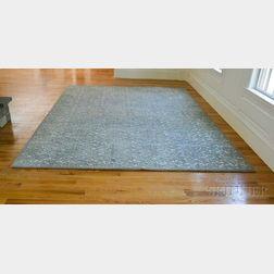 Antigua Scroll Aqua Wool Carpet