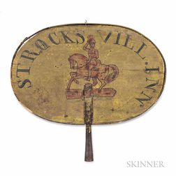 """Two-sided Polychrome Painted """"STROCKSVILL INN"""" Sign"""