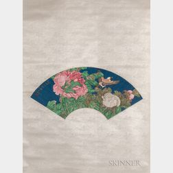 Hanging Scroll Fan Painting