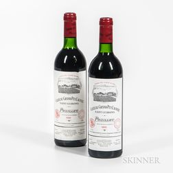 Chateau Grand Puy Lacoste 1986, 2 bottles