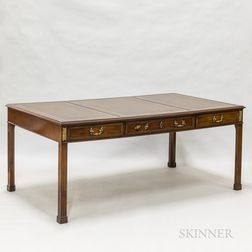 George III-style Mahogany Partner's Desk
