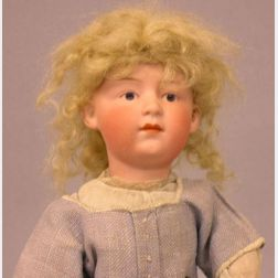 Gebruder Heubach Bisque Head Pouty Doll