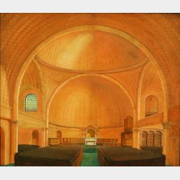 American School, 20th Century    Architectural Rendering of a Church Interior