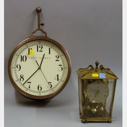 Brass Anniversary Clock and a Two-Dial Clock by Seth Thomas