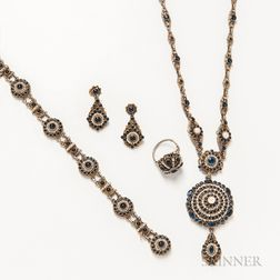 Austro-Hungarian Pearl and Gem-set Suite