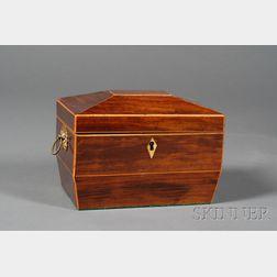 George III Mahogany Sarcophagus-form Tea Caddy