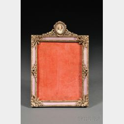 Austrian Gilt-metal, Enamel, and Miniature-mounted Picture Frame