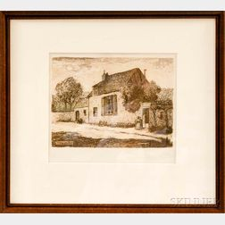 Framed Millet Print of a Country House