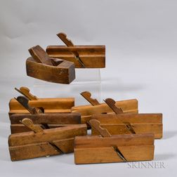 Eight Wood Molding Planes