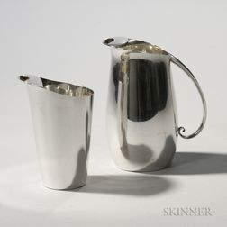 Two Tiffany Sterling Silver Pitchers