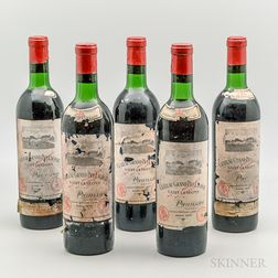 Chateau Grand Puy Lacoste 1970, 11 bottles