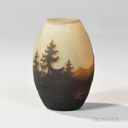 Muller Fres Landscape Vase
