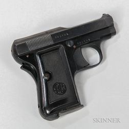 Beretta Model 418 and a Spanish Semiautomatic Pistol