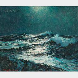 Stanley Wingate Woodward (American, 1890-1970)      Mid-Ocean Moonlight