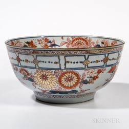 Large Export Imari Punch Bowl