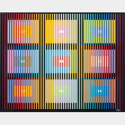 Yaacov Agam (Israeli, b. 1928)      Two Works: Interieur Espace Noir