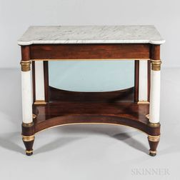 Empire-style Marble-top, Rosewood-veneered, and Ormolu-mounted Pier Table