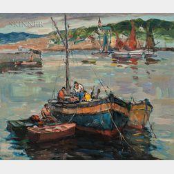 Antonio Cirino (Italian/American, 1889-1983)      Fishermen in a Boat
