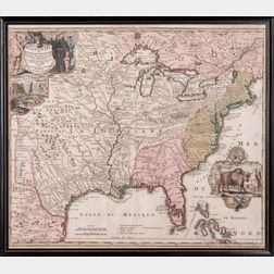 North America, East Coast. Johann Baptiste Homann (1664-1724) Amplissimae Regionis Mississipi seu Provinciae Ludovicianae a R.P. Ludovi