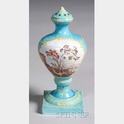 Battersea Enameled Metal Potpourri Vase