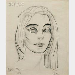 Boris Lovet-Lorski (American, 1894-1973)      Portrait of Marta Toren