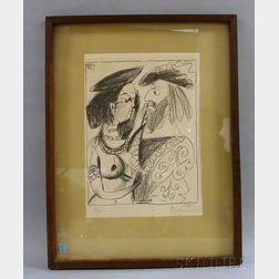 After Pablo Picasso (Spanish, 1881-1973)      Seigneur et fille